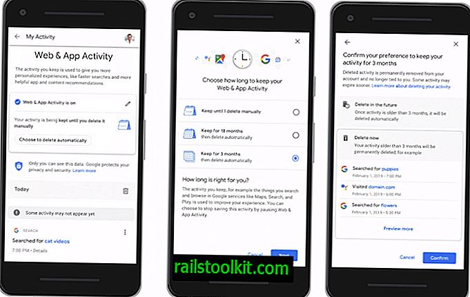 A Google automatikusan törli a gyűjtött tevékenységi adatok vezérlését
