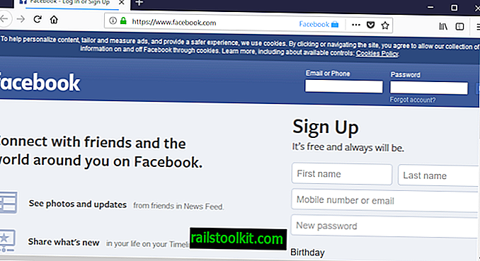 L'estensione del contenitore di Facebook impedisce il tracciamento di Facebook in Firefox