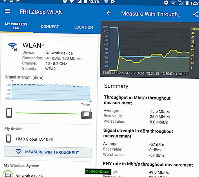 Измервайте своята пропускателна способност за WiFi с Fritz! App WLAN