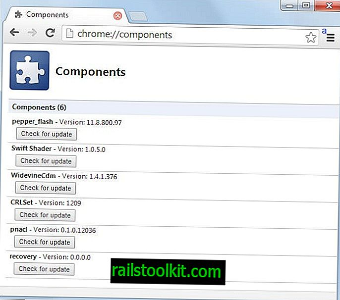 Comment répertorier les versions des composants et effectuer des contrôles de mise à jour dans Google Chrome