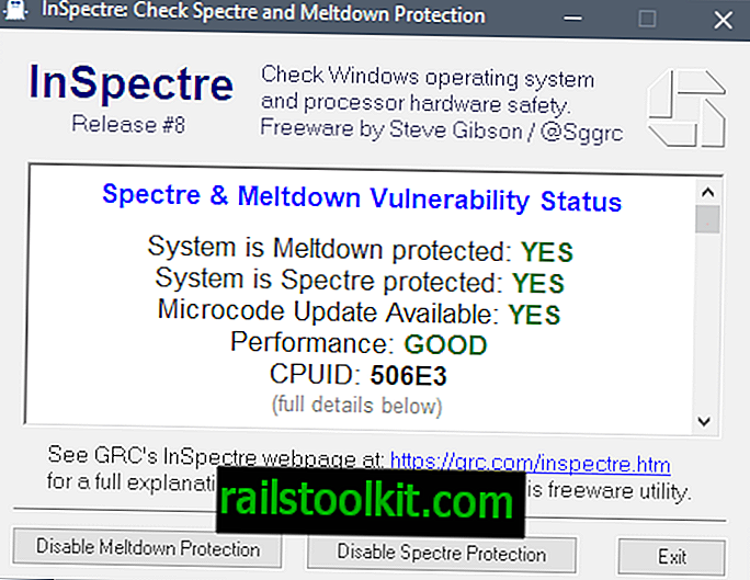 """Naujas """"InSpectre"""" leidimas atskleidžia, ar yra mikrokodo atnaujinimų"""
