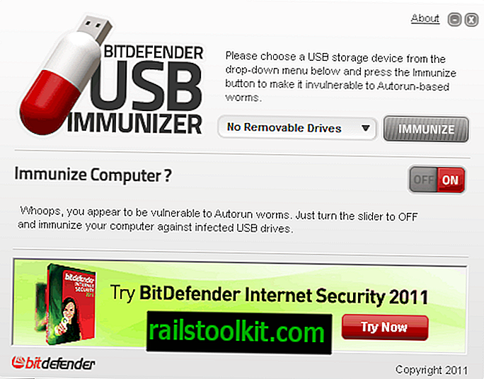 Bitdefender USB Immunizer, Schützt Wechseldatenträger vor Angriffen, die auf Autorun basieren