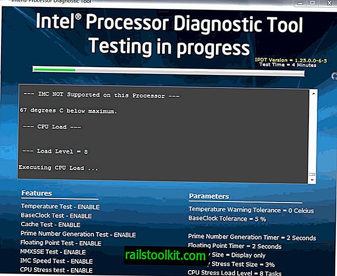 Intel Processor Diagnostic Tool, test CPU Intel