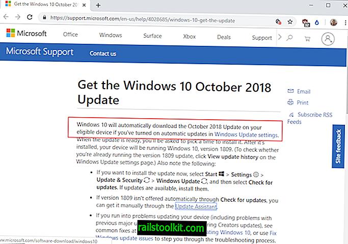 Windows 10 1809: započinje potpuno pokretanje