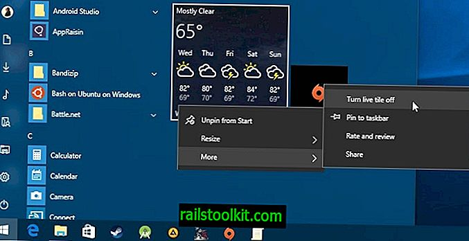 Comment désactiver Windows 10 Live Tiles de manière permanente