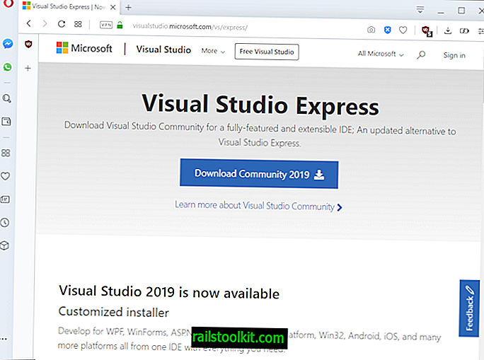 Ottieni la tua copia gratuita di Microsoft Visual Studio Express / Community Edition