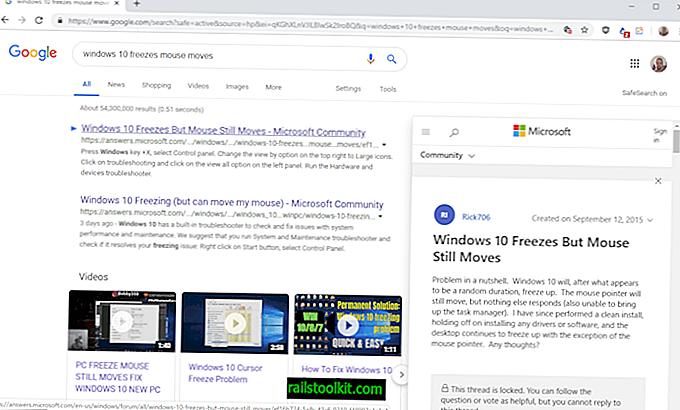 Vorschau der Google-Suchergebnisse in Google Chrome