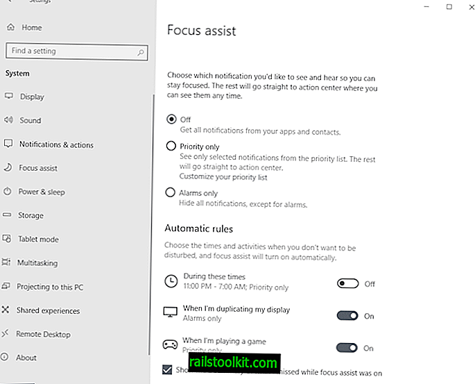 Gestisci Focus Assist su Windows 10