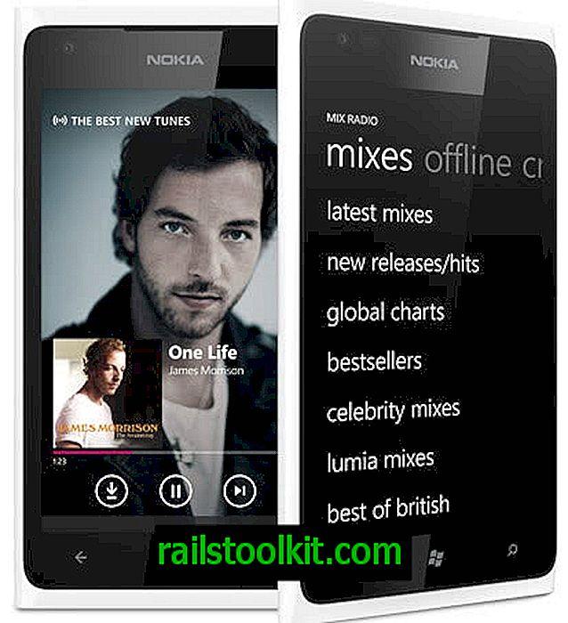 Nokia Mix Radio: bezmaksas Nokia Lumia mūzikas lietotne