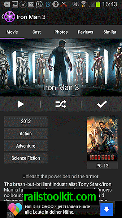 Movie Roll: Die One Movie App für Android