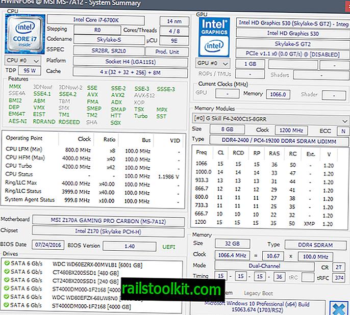 Megjelent a HWiNFO 5.60 hardverinformáció és megfigyelőszoftver