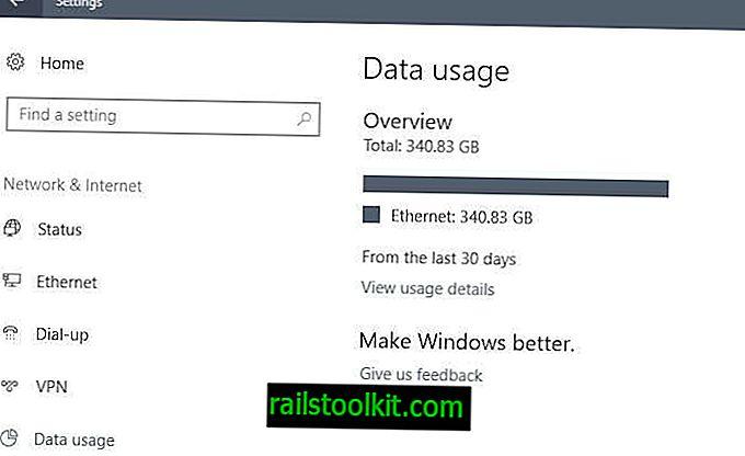 Come ripristinare l'utilizzo dei dati in Windows 10