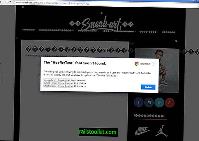 """Chrome: Die Schriftart """"HoeflerText"""" wurde nicht gefunden"""