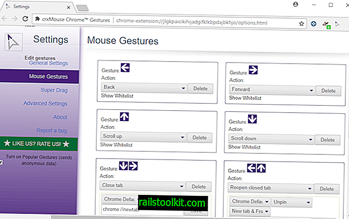 estensione crxMouse Chrome Gestures
