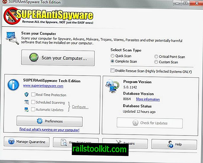 SuperAntiSpyware Online Safe Scan, Portable Malware Scanner
