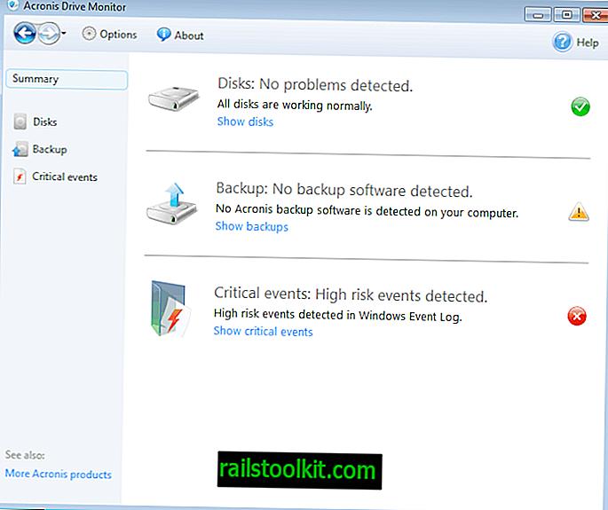 Acronis Drive Monitor, Festplatten auf kritische Ereignisse überwachen