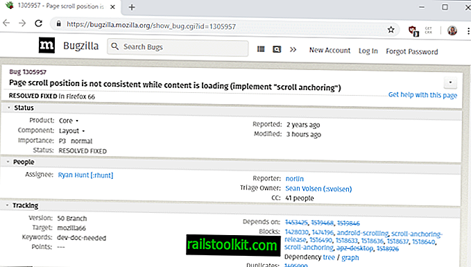 Firefox 66: Scroll Anchoring behebt Bildlaufpositionssprünge beim Laden
