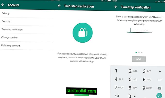 WhatsApp preverjanje v dveh korakih