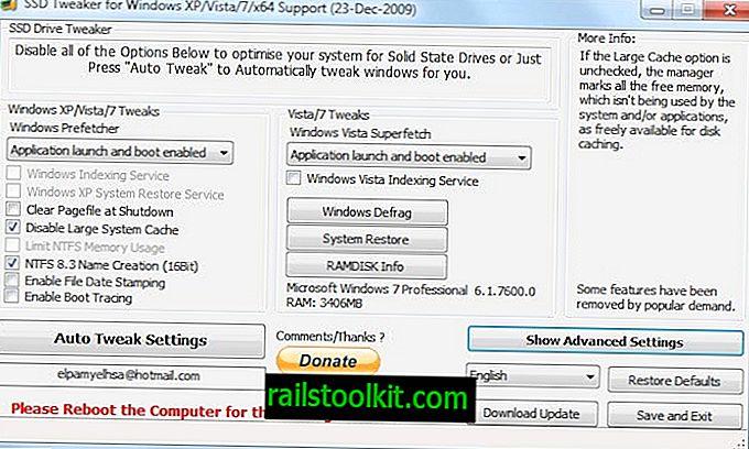 Pregled SSD Tweaker-a