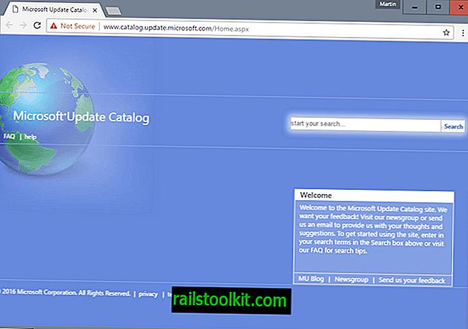 Catalogul Microsoft Update funcționează acum cu orice browser