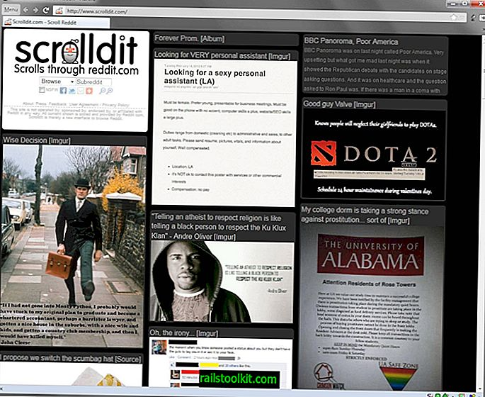 Scrolldit, una interfaz visual de Reddit