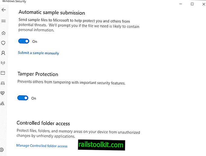 Windows 10 1903: Windows Defender Antivirus intègre la fonction de protection contre la falsification