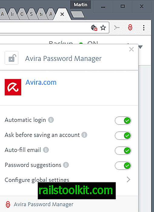 Avira Password Manager examen