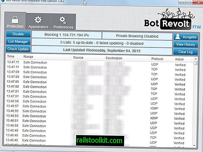 Bot Revolt es una alternativa Peer Guardian and Block para Windows