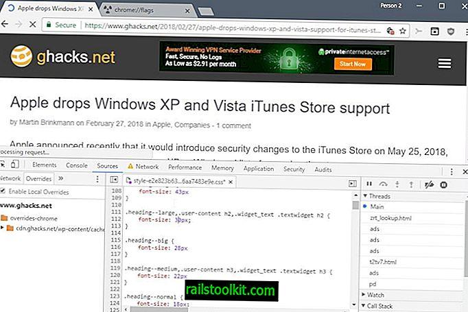 """Atlikite nuolatinius tinklalapių pakeitimus naudodami """"Chrome"""" nepaisymo kūrimo įrankį"""