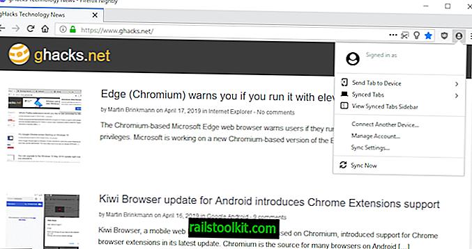 Firefox 67 affichera une icône de profil dans la barre d'outils principale par défaut