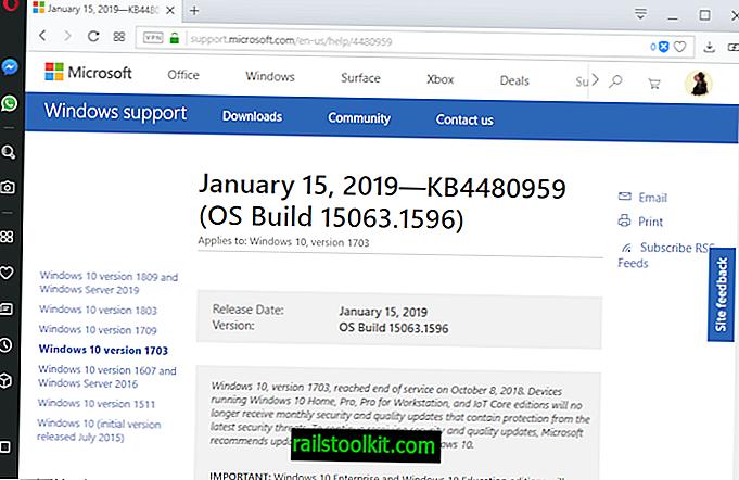 """Išleisti """"Windows 10"""" atnaujinimai KB4480977, KB4480959, KB4480967 ir KB4480976"""