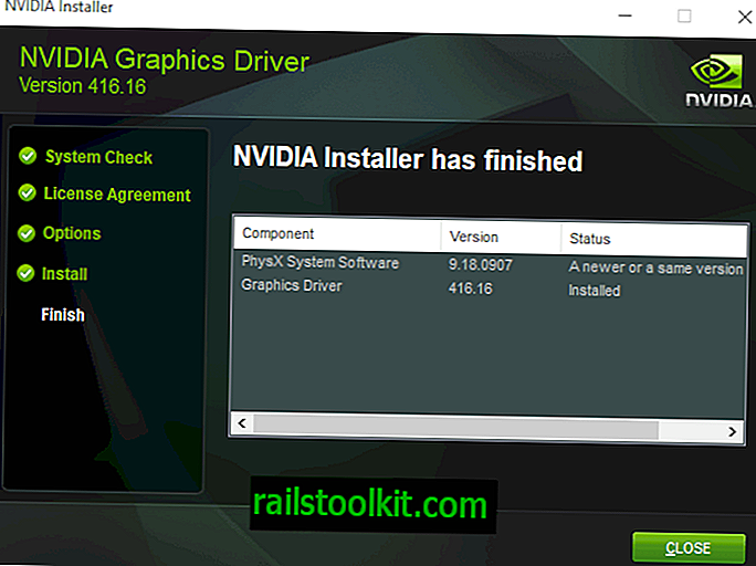 Nvidia GeForce 416.16 avec Windows 10 version 1809 prise en charge