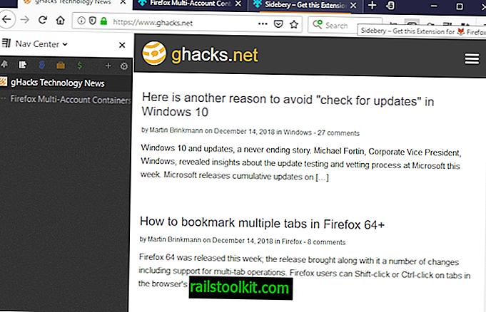 Verwalten Sie Firefox-Registerkarten, Lesezeichen und Container in der Seitenleiste