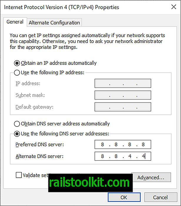 Google Public DNS podporuje DNS-over-TLS: ale pravděpodobně jej nyní nemůžete použít