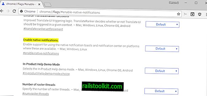 Kontrollera ursprungliga aviseringar i Chrome för Windows 10