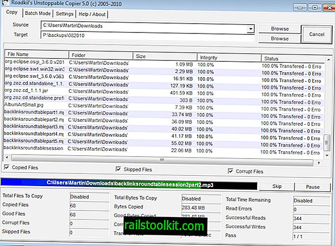 Dateiwiederherstellungssoftware Roadkil Unstoppable Copier 5 veröffentlicht