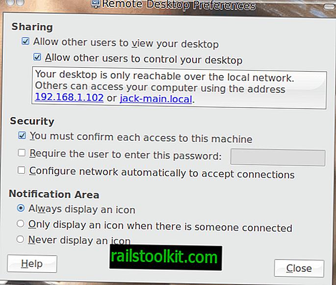 Vinagre Remote Desktop Verbindung für Linux