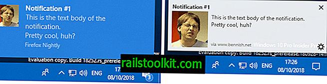 Firefox unterstützt native Windows 10-Benachrichtigungen