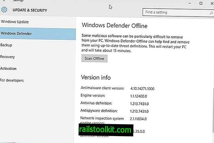 Windows 10에 Windows Defender 오프라인 통합