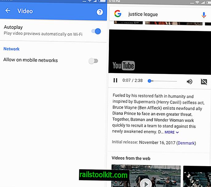 Deaktivieren Sie die automatische Wiedergabe von Videos in der Google App auf Android