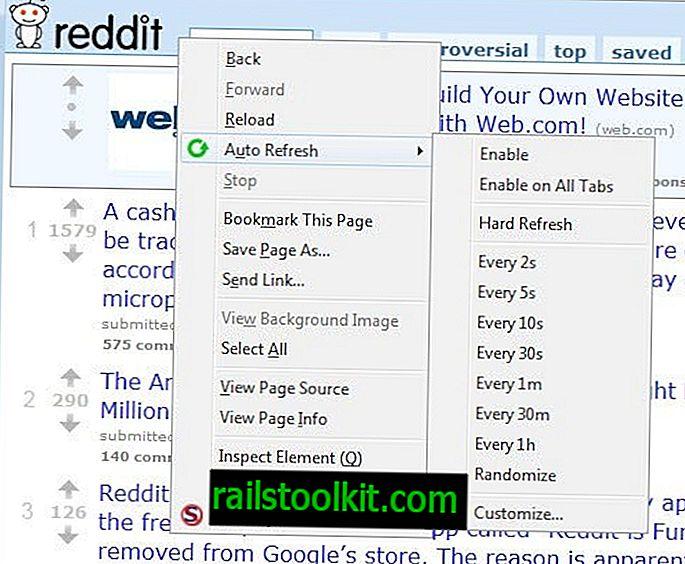 Samodejno osveži Izberite jezičke v brskalniku Firefox