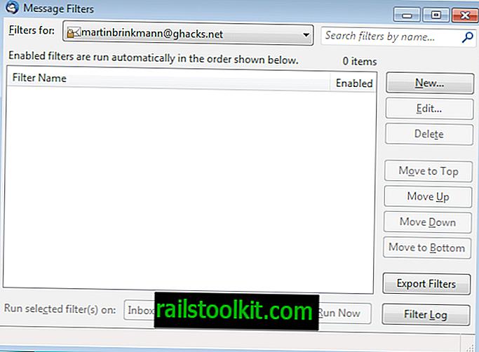 Suggerimento Thunderbird: importare ed esportare i filtri di posta