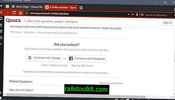 uBlock Podrijetlo: pregledajte Quora.com bez računa