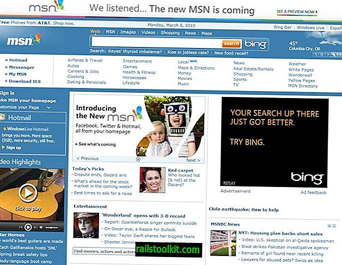 Jak přistupovat ke starému webu MSN