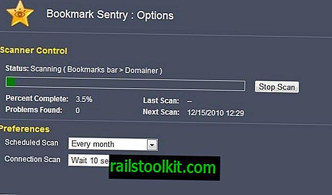 Bookmark Sentry für Chrome, auf tote und doppelte Lesezeichen prüfen