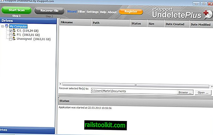 Recupera i file eliminati con Undelete Plus