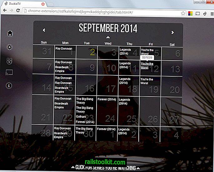 DuckieTV v Chrome prinaša sledenje televizijskih oddaj in iskanje hudournikov