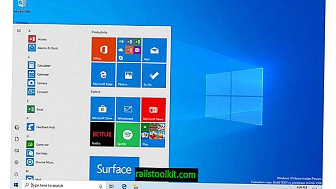 Käynnistä-valikko saa oman prosessinsa ja suorituskyvyn parannuksen Windows 10 19H1: ssä