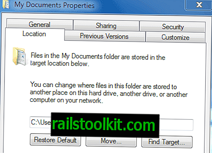 Slik flytter du mappen Dokumenter i Windows 7