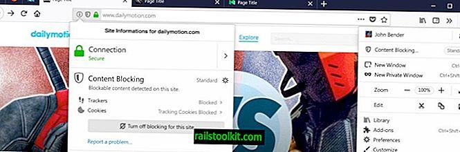 Dies ist die überarbeitete Datenschutz-Oberfläche von Firefox